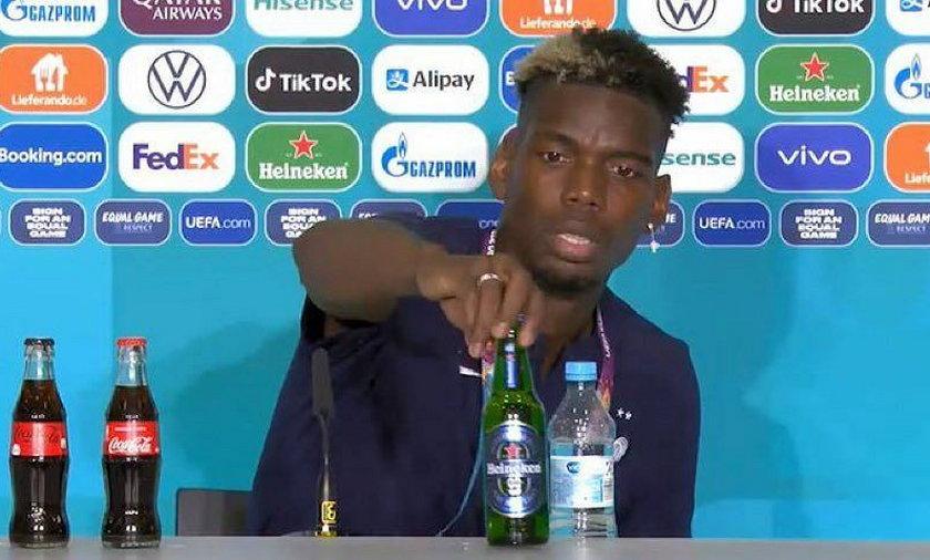 Pogba nie chciał, by stało obok niego piwo Heineken.