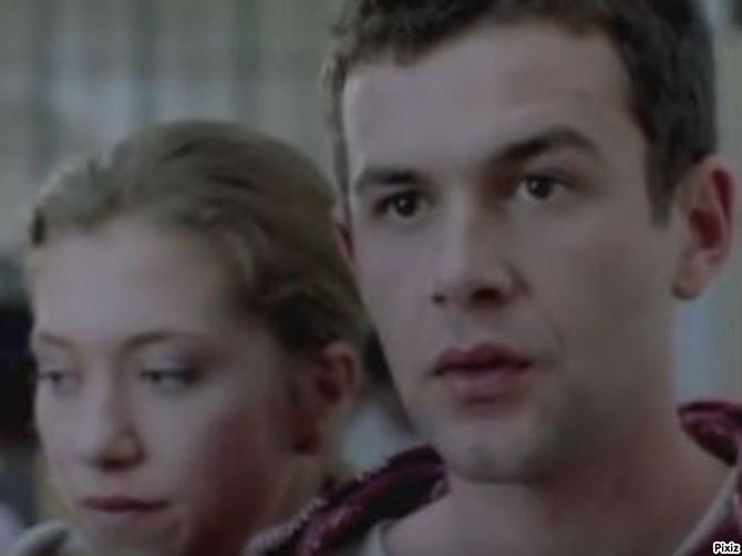 Glogovac sa Brankom Katić (Jelenom) u filmu