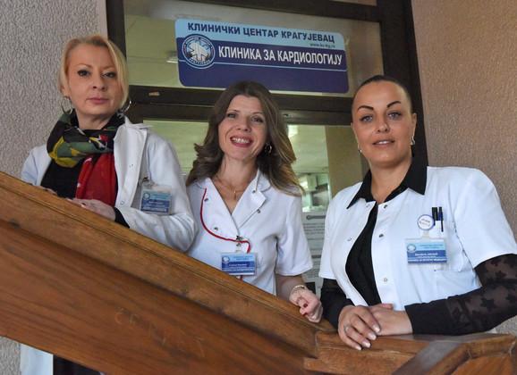 Vesna Kazaković, Snežana Ristić Ivanović i Danijela Jacović, koleginice iz Kliničkog centra Kragujevac