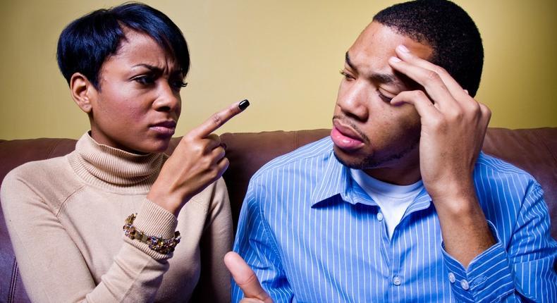 Angry couple for illustrative purposes (Ebony Magazine)