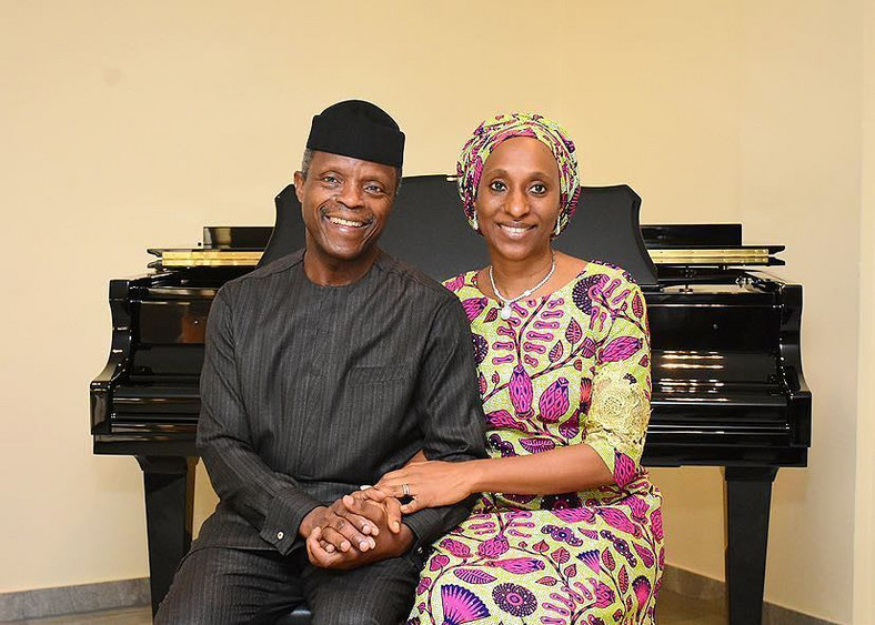 Vice-President Yemi Osinbajo and wife Dolapo
