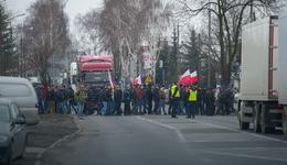 Protest rolników. Blokowali drogę w Błaszkach