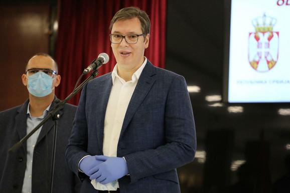 Predsednik Aleksandar Vučić u Novom Pazaru