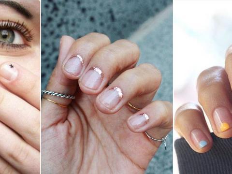 Delikatne Zdobienia Na Bezbarwnym Lakierze Minimalistyczny Manicure