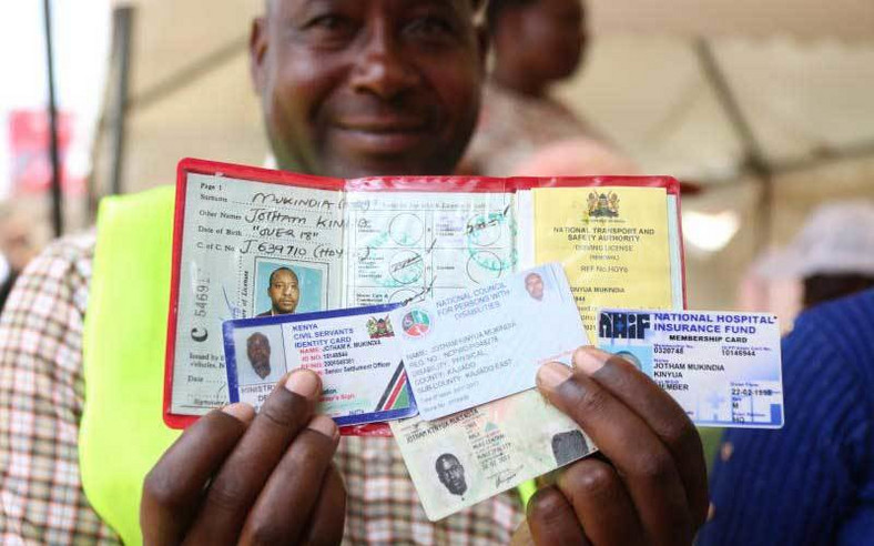 Documents displayed during the start of the Huduma Namba registration process (Standard)