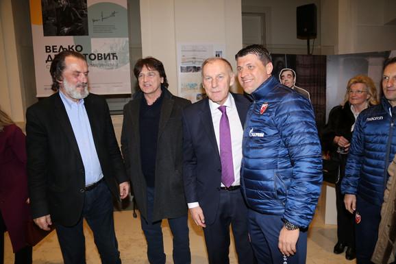 Vuk Drašković, Zdravko Čolić, Dragan Džajić i Vladan Milojević