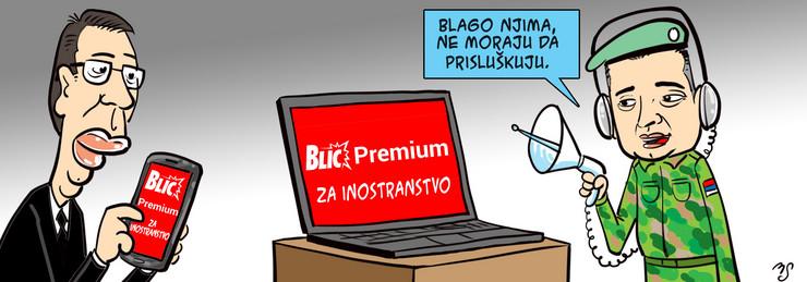 reklama za blic premium, blic strip