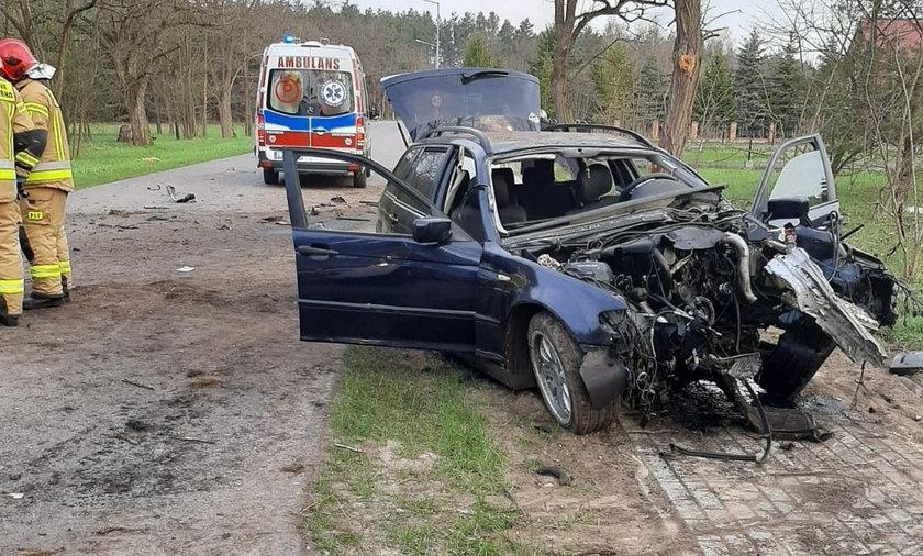 Wypadek pod Biłgorajem. 18-latka wypadła z samochodu