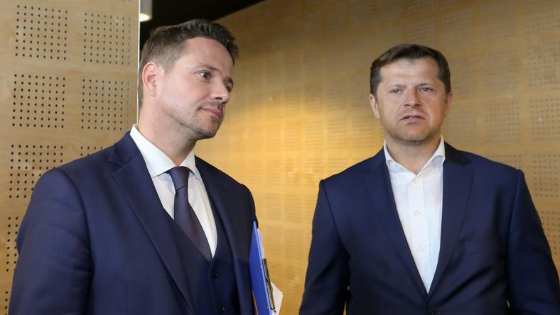Rafał Trzaskowski i Cezary Kucharski