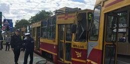 Zderzenie tramwajów. Są ranni