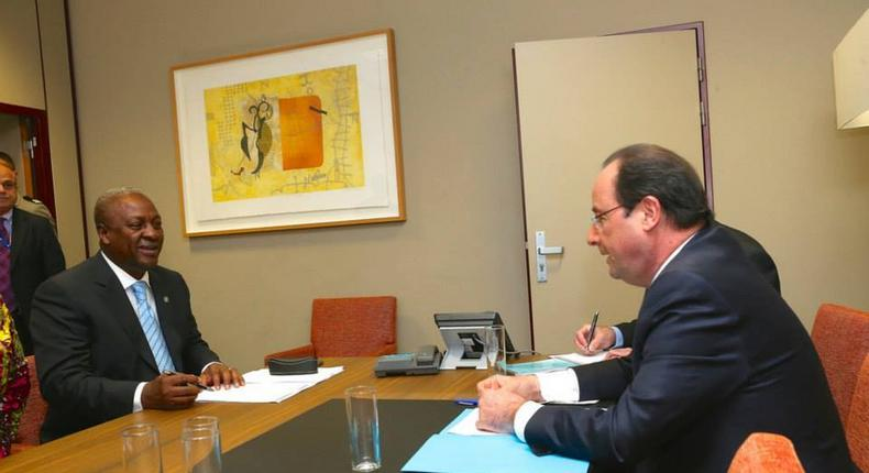 President Mahama holds discussions with Francois Hollande