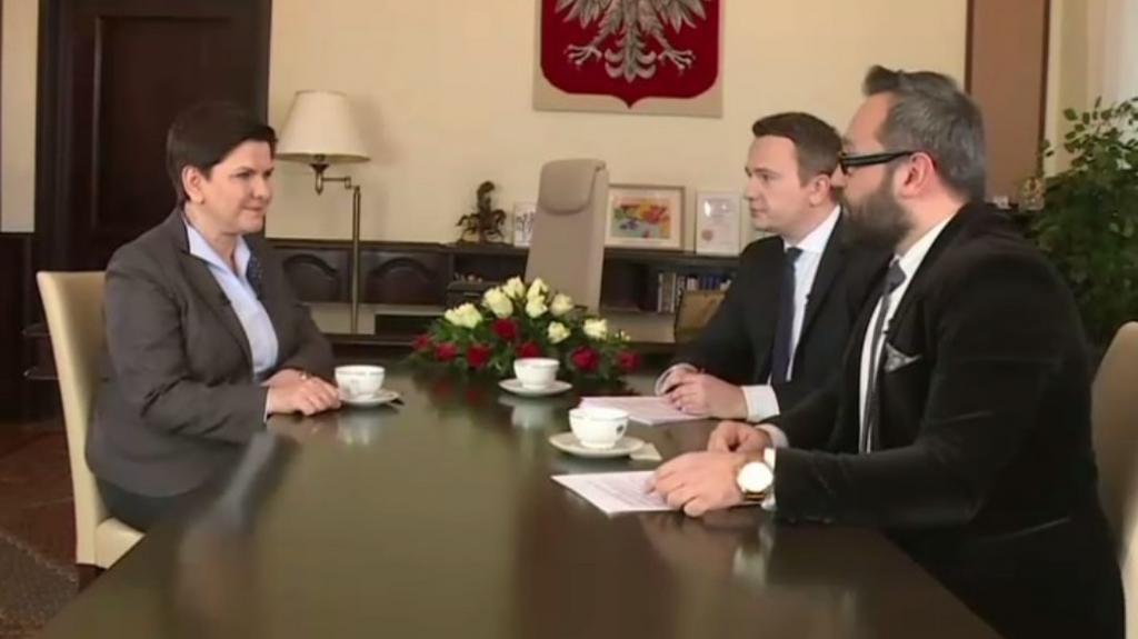 Andrzej Gajcy i Andrzej Stankiewicz w rozmowie z premier Beatą Szydło (20.01.2017)