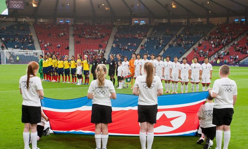 Igrzyska Olimpijskie W Londynie, mecz piłkarek Korea Płn - Kolumbia
