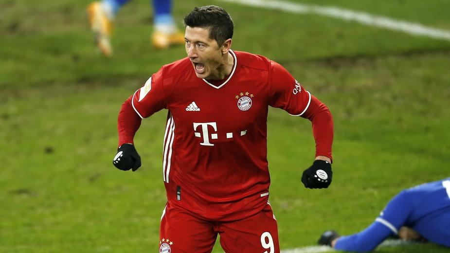 BUNDESLIGA, Robert Lewandowski w meczu z Schalke