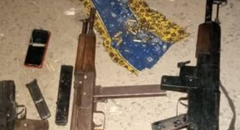 Items recovered at the scene of the incident.