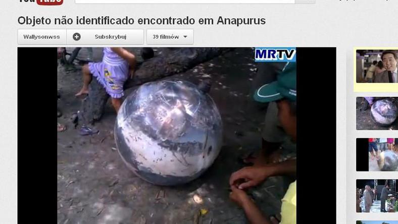 Tajemnicza kula spadła z nieba w Brazylii