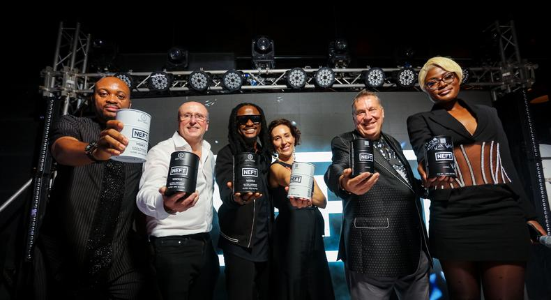 PHOTOS: #Emptythebarrel! Neft, Russian Vodka brand expands business operations in Africa, launches its 'Neft Beyond Vodka' in Nigeria, Africa.