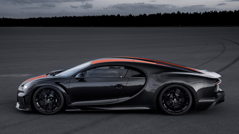 This is the first time a street-legal production hypercar has broken the 300 mph barrier, according to Bugatti. The car reached exactly 304.773 mph at a VW Group test track.