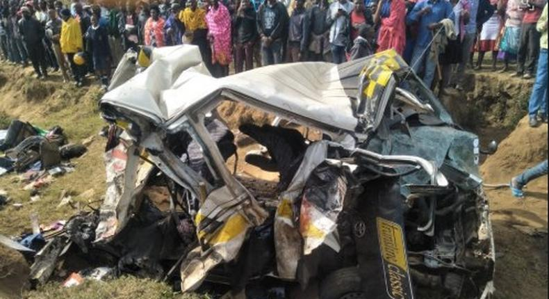 Six people died in an accident along Mai Mahiu, Narok road