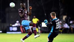 Sierra Leone match-winner Kei Kamara (L) playing for Colrado Rapids in Major League Soccer last year. Creator: Emilee Chinn