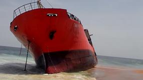 Morze wyrzuciło na brzeg statek-widmo