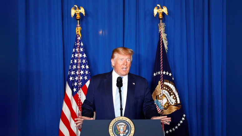 U.S. President Donald Trump delivers remarks following the U.S. Military airstrike against Iranian General Qassem Soleimani in Baghdad, Iraq, in West Palm Beach, Florida, U.S., January 3, 2020. (Reuters/NAN)