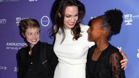 Angelina Jolie z córkami na premierze filmu