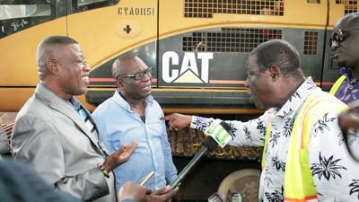 Minister's road inspection tour turns violent; Gunshots fired