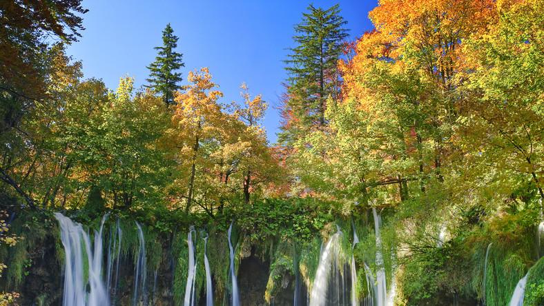 To najbardziej znany park narodowy Chorwacji i jako jedyny wpisany na Listę światowego dziedzictwa przyrodniczego UNESCO. Można go zwiedzać kilkoma różnymi trasami, które prowadzą wokół 16 jezior krasowych. Jeziora te powstały w zagłębieniach skalnych i wyróżniają się lazurowym kolorem wody. Są połączone ze sobą licznymi wodospadami, a Veliki Slap, największy z nich, mierzy aż 78 m. Po największym jeziorze można przepłynąć się łódką, a nad innymi przejść specjalnie w tym celu ustawionymi kładkami. Jednak warto zwrócić uwagę także na otoczenie jezior: bukowe lasy, skupiska storczyków i orchidei oraz zamieszkujące te tereny zwierzęta, m.in. rzadkie w Europie rysie i wydry, sarny, jelenie, liczne gatunki ptaków np. bociany, dzięcioły i orły oraz płazy: salamandry plamiste, rzekotki drzewne albo kumaki górskie. Do parku bardzo łatwo dostać się dzięki tanim lotom do Zagrzebia i autobusem do przystanku Plitvicka Jezera. Czas przejazdu autobusem wynosi około 2 godzin 15 minut.