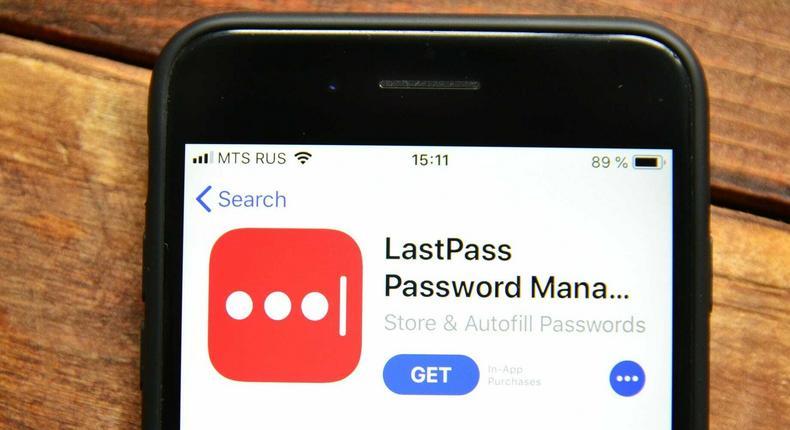LastPass encrypted password management mobile app
