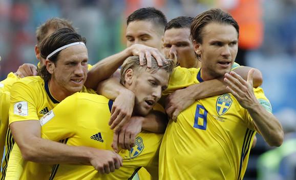Šveđani slave eliminaciju Švajcarske u osmini finala