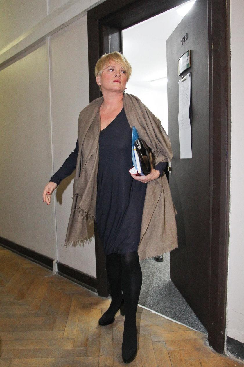 Katarzyna Figura w sądzie