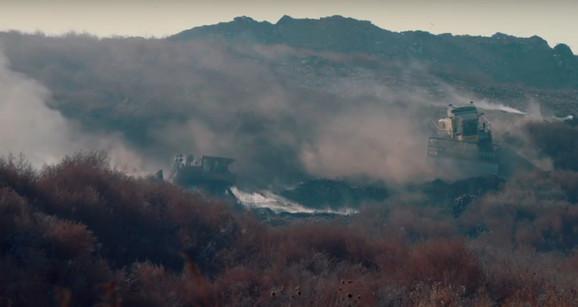 Dim se često vidi na sadašnjoj deponiji u Vinči
