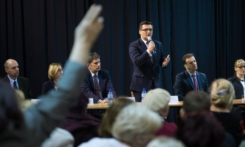 Spotkanie mieszkańców Murcek z prezydentem