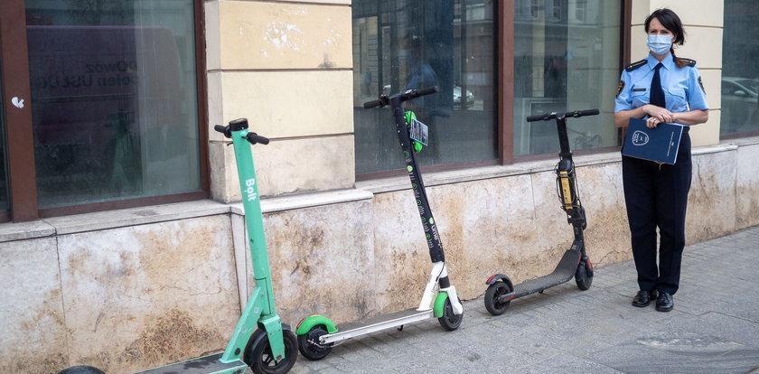 Hulajnogą nie pohulasz. Straż miejska w Łodzi już szykuje się na nowe przepisy. Dzisiaj zmiana Kodeksu drogowego