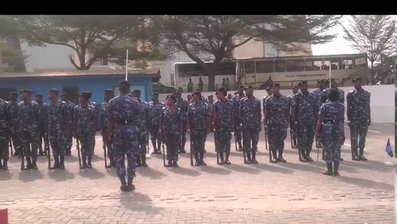 f24d1d3ae0b Training drill for Customs recruits sparks online outrage - Pulse Ghana