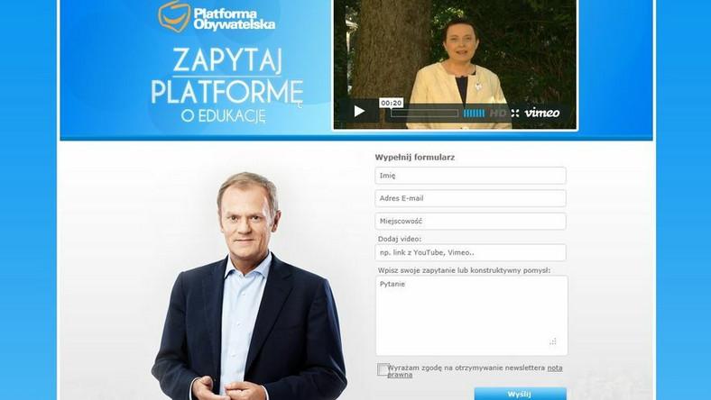 Platforma zachęca: Zadaj pytanie ministrowi