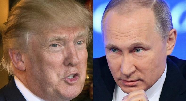 US President Donald Trump (left) and Russian President Vladimir Putin