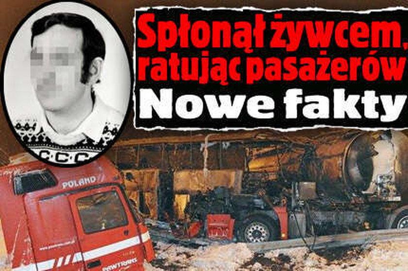 Spłonął żywcem, ratując pasażerów. Nowe fakty