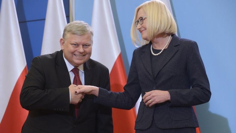 Marek Suski i Joanna Kopcińska