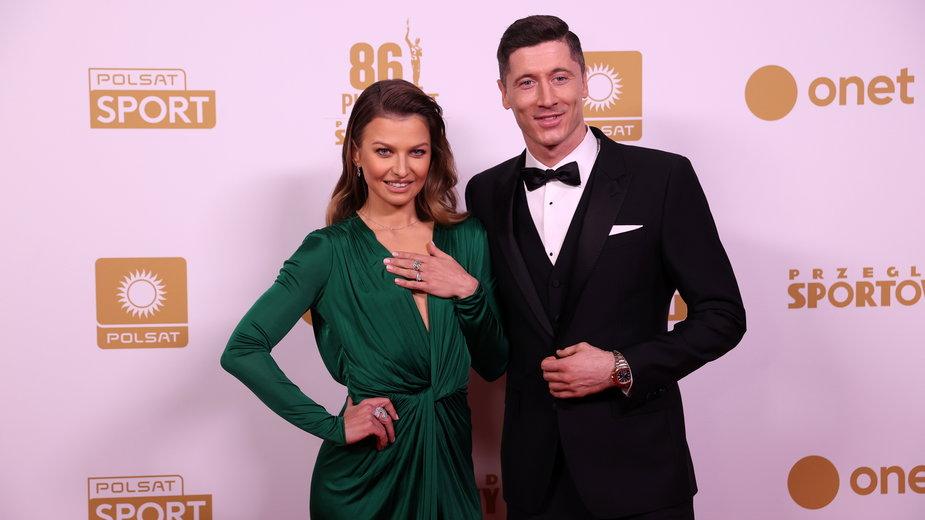Robert Lewandowski i Anna Lewandowska na Gali Mistrzów Sportu