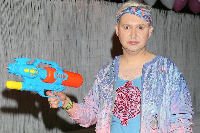 Michał Witkowski na imprezie