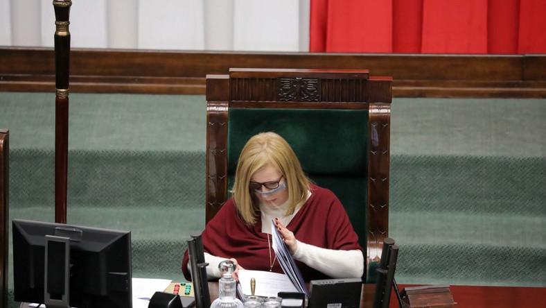 Wicemarszałek Sejmu Małgorzata Gosiewska PAP/Tomasz Gzell