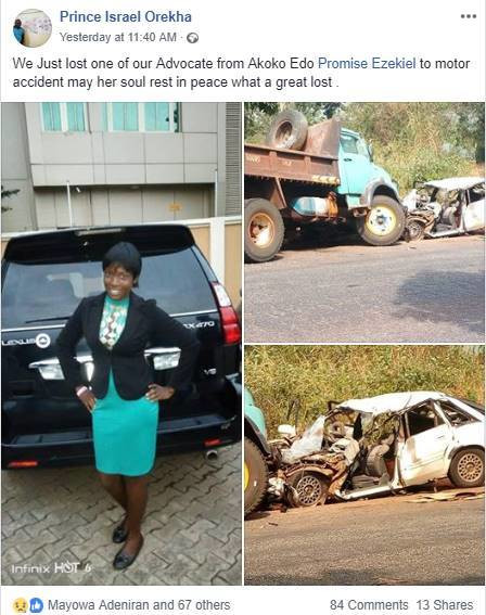 Rape victim dies sadly in an accident on her way to court