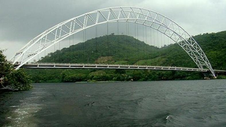 Adome Bridge in the Eastern Region of Ghana