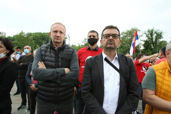 Dragan Đilas i Janko Veselinović