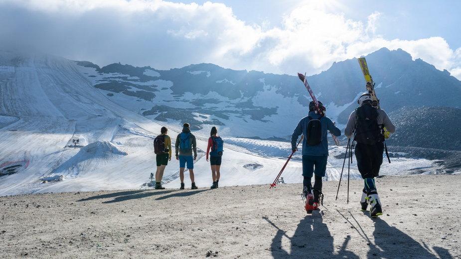 Austria, Karyntia na narty. Lodowiec Mölltaler