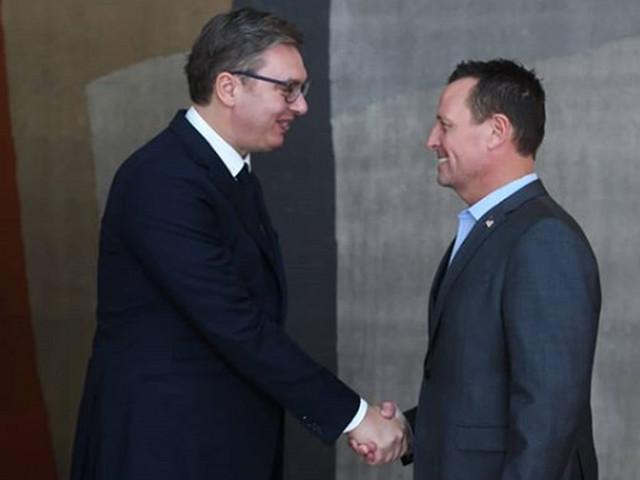 Aleksandar Vučić i Ričard Grenel