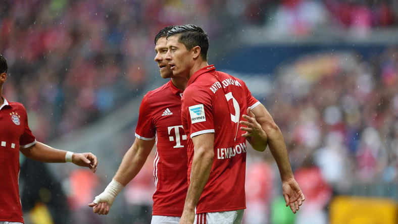 Robert Lewandowski i Xabi Alonso