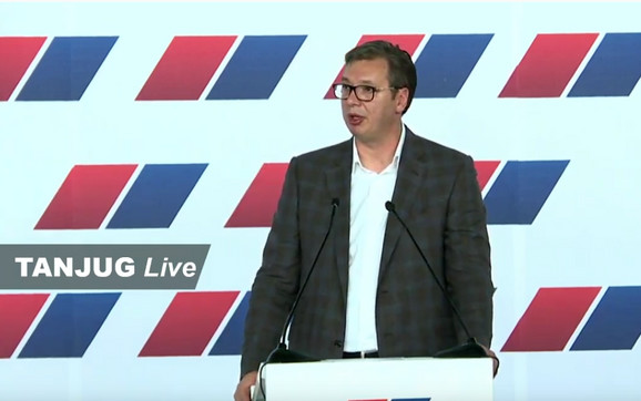 Vučić na sednici glavnog odbora SNS-a